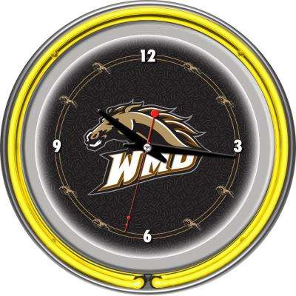 14 in. Western Michigan University Neon Wall Clock