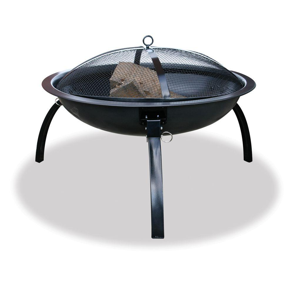 UniFlame Black Folding Fire Pit-DISCONTINUED