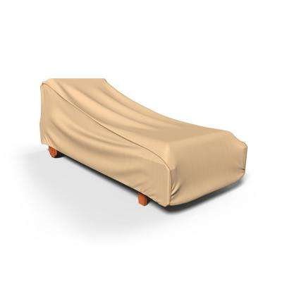 NeverWet Savanna Extra-Large Tan Single Patio Chaise Cover