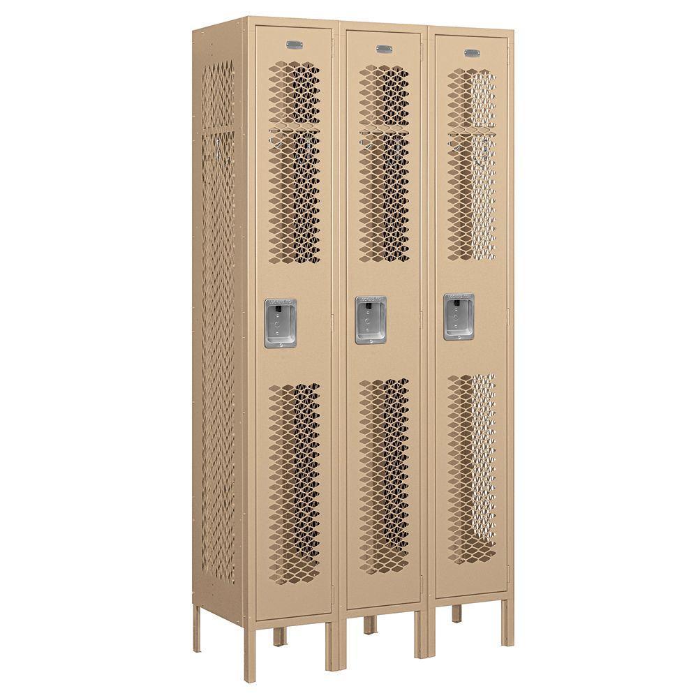 Salsbury Industries 71000 Series 36 in. W x 78 in. H x 15 in. D Single Tier Vented Metal Locker Assembled in Tan