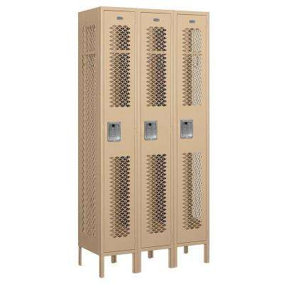 71000 Series 36 in. W x 78 in. H x 15 in. D Single Tier Vented Metal Locker Assembled in Tan