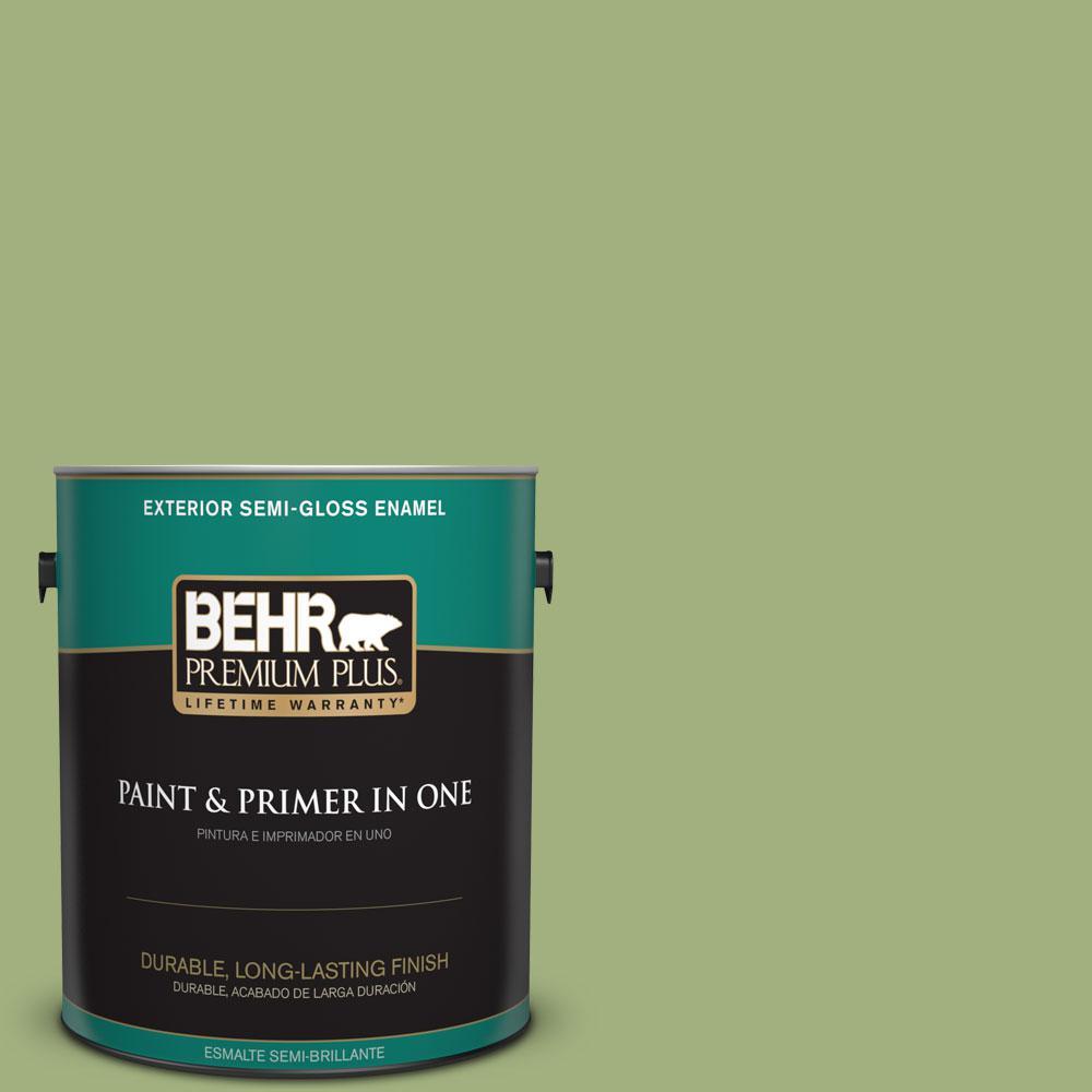 1-gal. #M360-5 Fresh Guacamole Semi-Gloss Enamel Exterior Paint