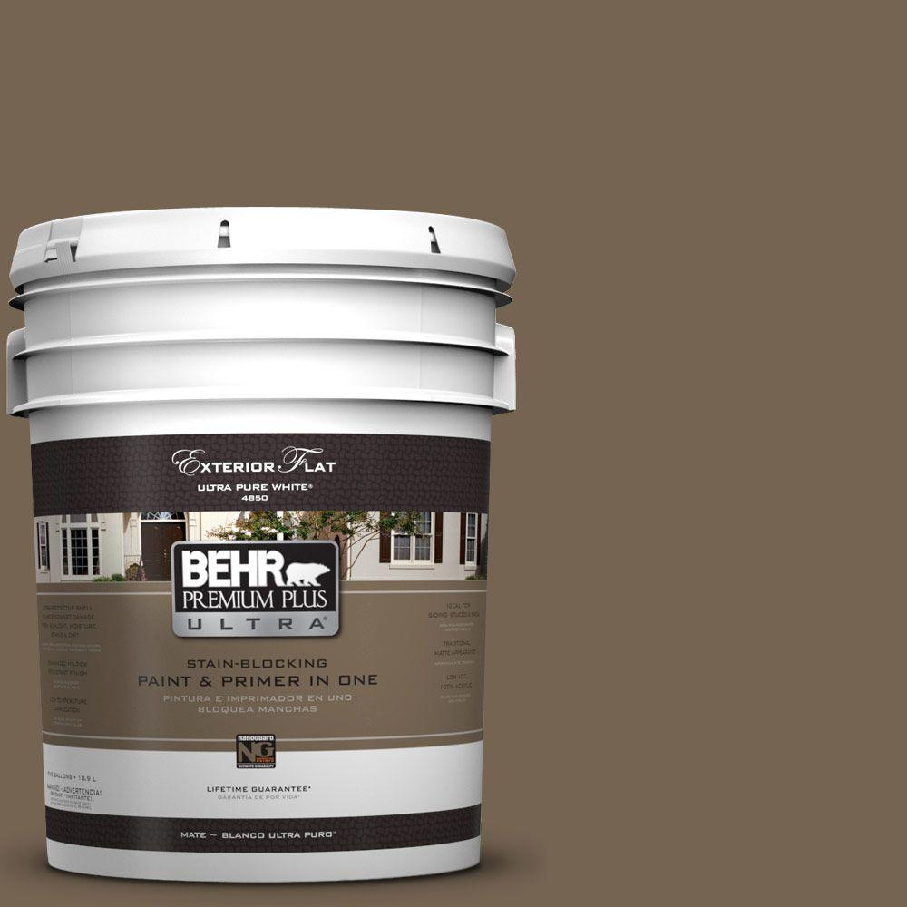 5 gal. #HDC-SM14-4 Tan Bark Trail Flat Exterior Paint