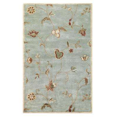 Lenore Ice Blue 3 ft. x 5 ft. Area Rug