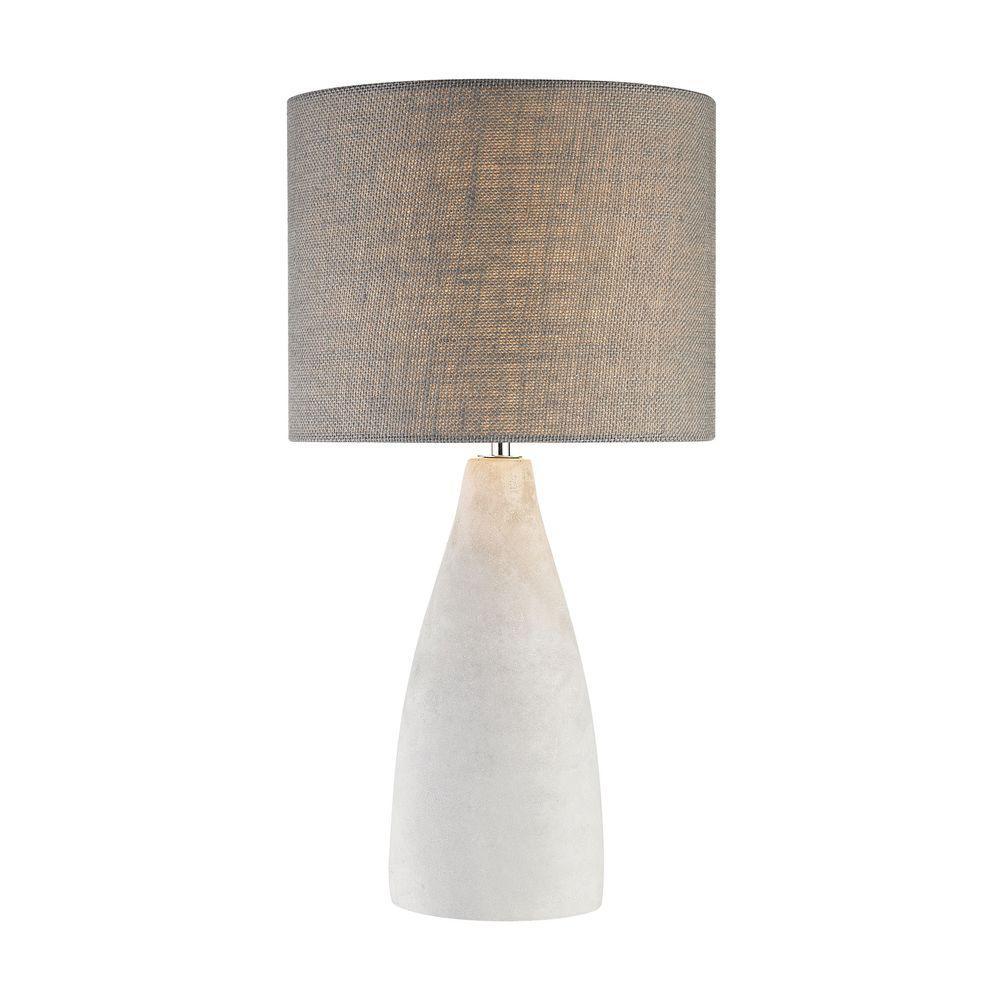 Titan Lighting Rockport 21 in. Polished Concrete Table Lamp - Titan Lighting Rockport 21 In. Polished Concrete Table Lamp-TN