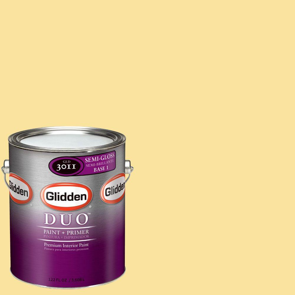 Glidden DUO Martha Stewart Living 1-gal. #MSL069-01S Haystack Semi-Gloss Interior Paint with Primer-DISCONTINUED
