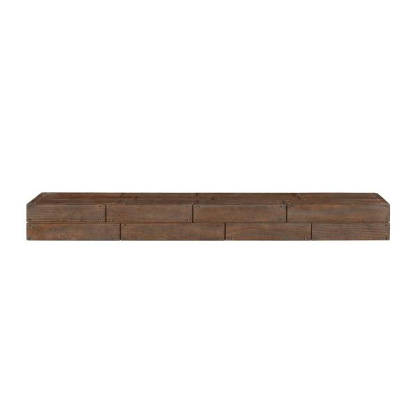 The Cades Cove 6 ft. Shiplap Cabin Finish Cap-Shelf Mantel