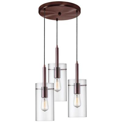 Nostalgia 3-Light Oil Brushed Bronze Vintage Dinette Pendant