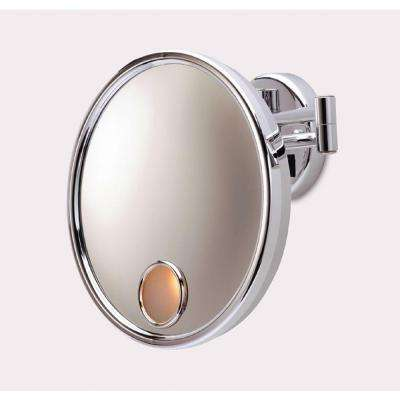 10 in. L x 10 in. W Wall Makeup Mirror in Chrome