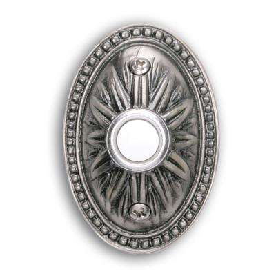 Wired Lighted Door Bell Push Button, Pewter
