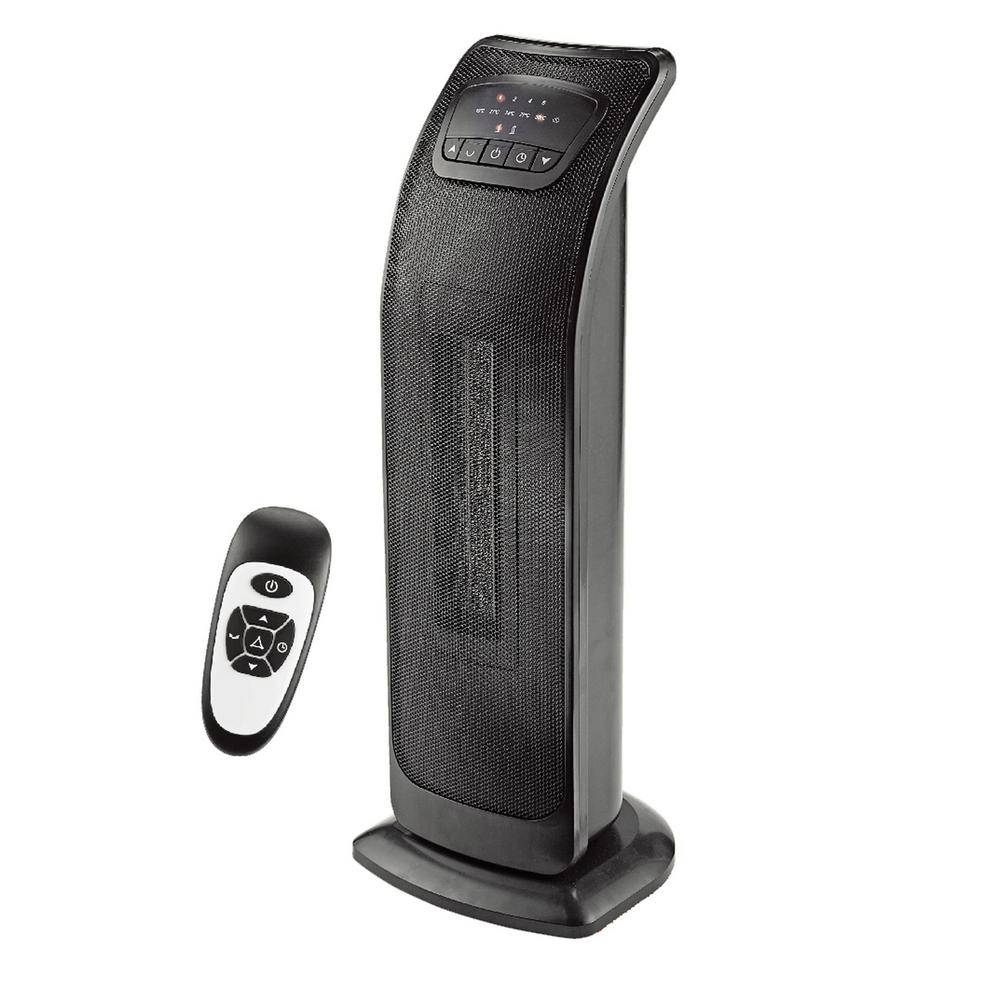 Ecohouzng 23 in. Oscillating Tower Ceramic Heater with Remote