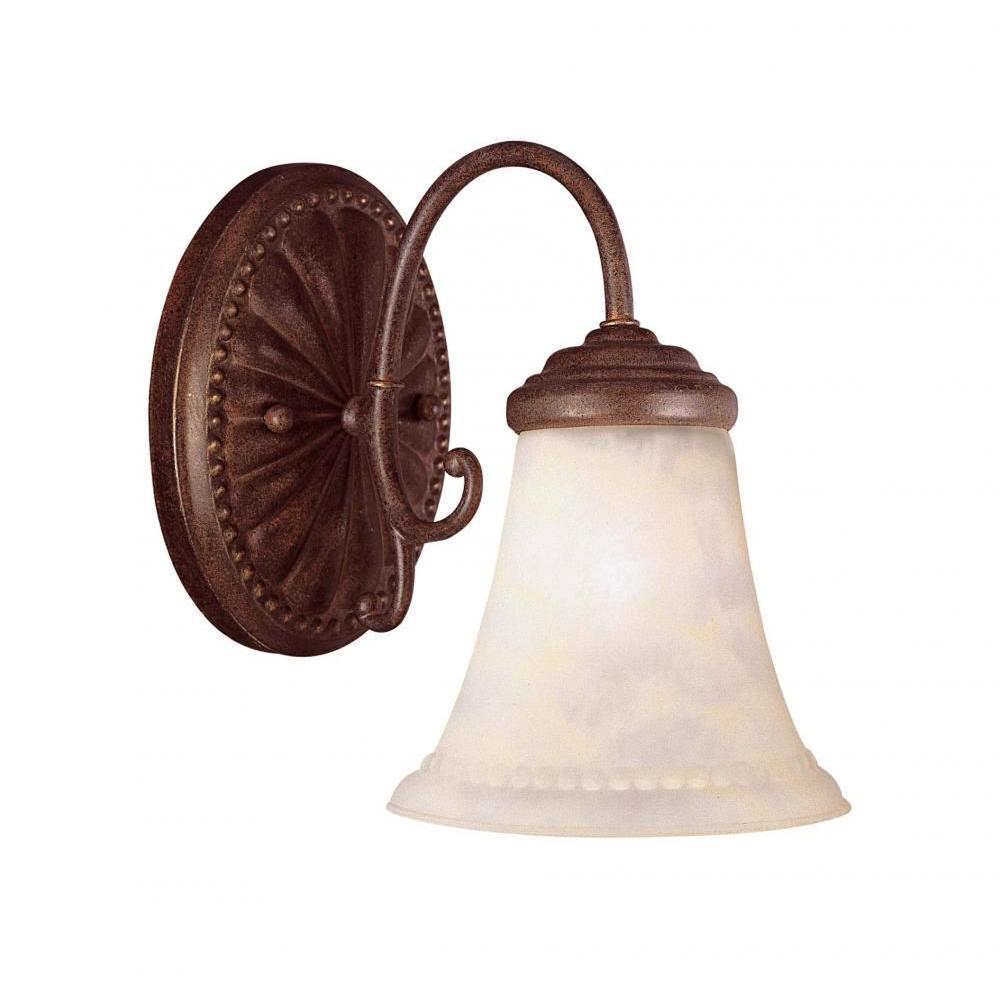 Indica 1-Light Walnut Patina Sconce