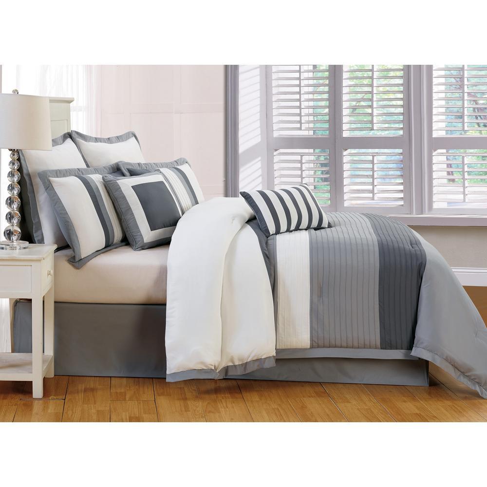internet 2 duck river rochester grey 8piece queen comforter set