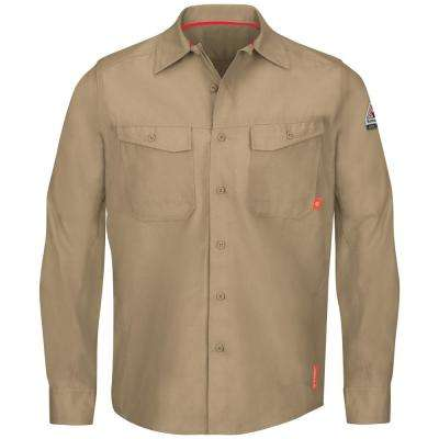 iQ Series Men's 5XL (Tall) Khaki Endurance Work Shirt