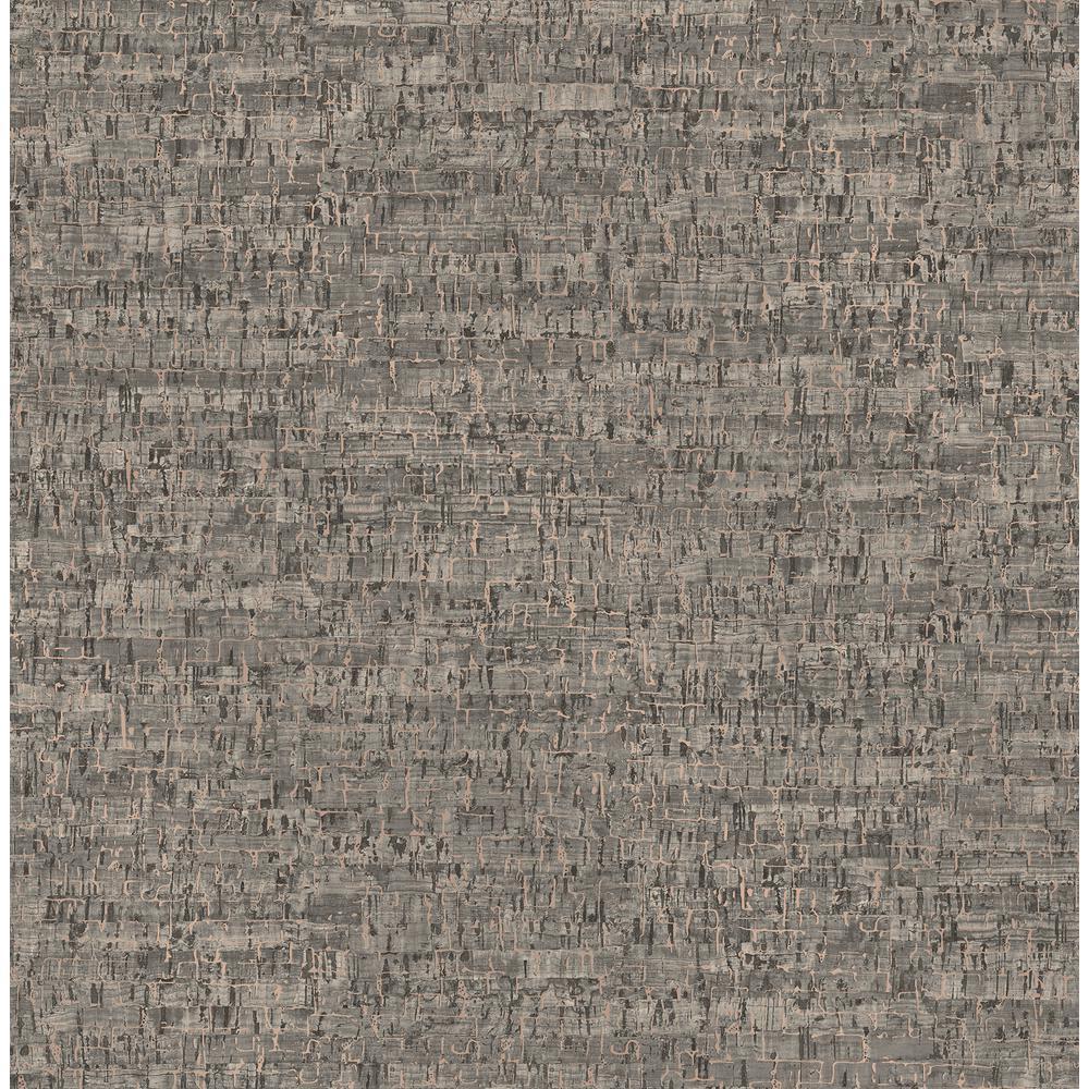 Henrique Taupe Faux Cork Wallpaper Sample