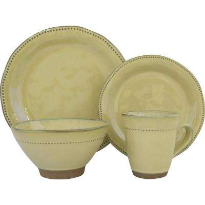 Cyprus 16-Piece Beige Dinnerware Set