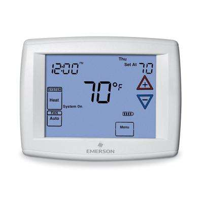Touchscreen 7-Day Programmable Thermostat with Humidity Control