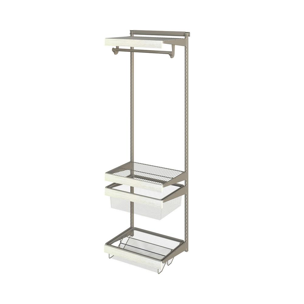 Closet Culture 16 in. x 24 in. W x 78 in. H Wire Closet System with ...