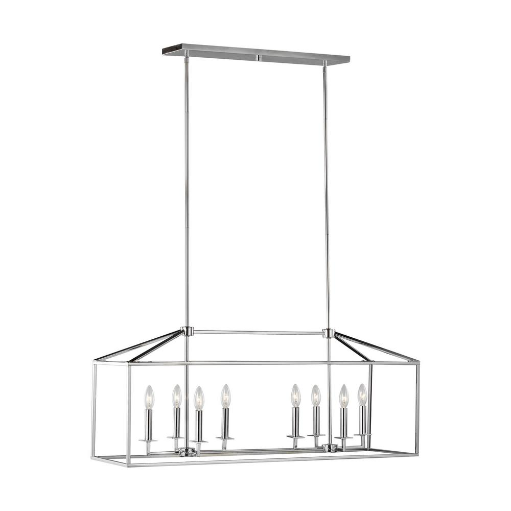 Sea Gull Lighting Perryton 8-Light Chrome Transitional Pendant was $586.9 now $352.14 (40.0% off)