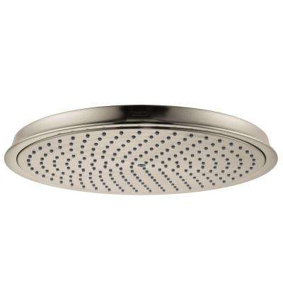 Raindance C 300 Air 1-Spray 12 in. Showerhead in Brushed Nickel