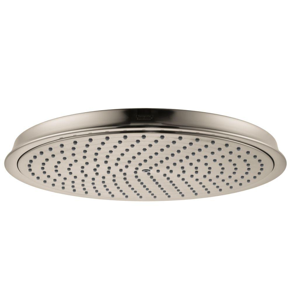 Hansgrohe Raindance C 300 Air 1-Spray 12 in. Showerhead in Brushed Nickel
