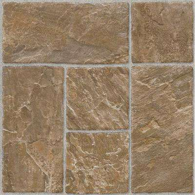 Honey Beige 12 in. x 12 in. Residential Peel and Stick Vinyl Tile Flooring (45 sq. ft. / case)