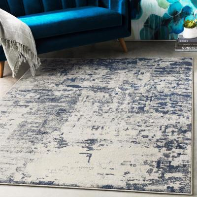 Aldona Navy 9 ft. 3 in. x 12 ft. 3 in. Abstract Area Rug