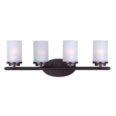 Corona 4-Light Oil Rubbed Bronze Bath Light Vanity
