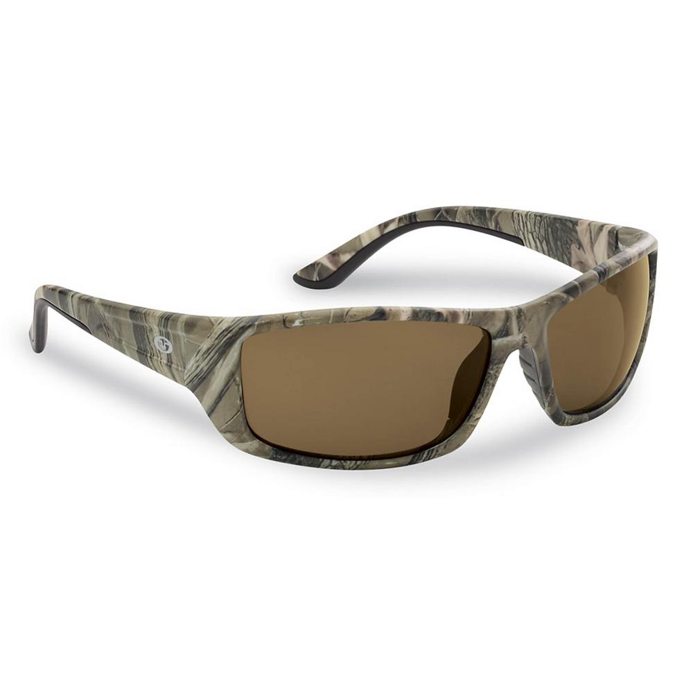 5ba4f328f62 Flying Fisherman Buchanan Polarized Sunglasses Camo Frame with Amber Lens