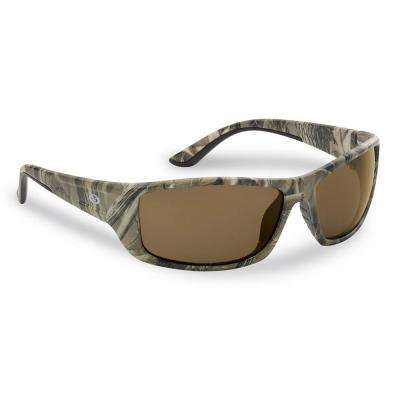 Buchanan Polarized Sunglasses Camo Frame with Amber Lens