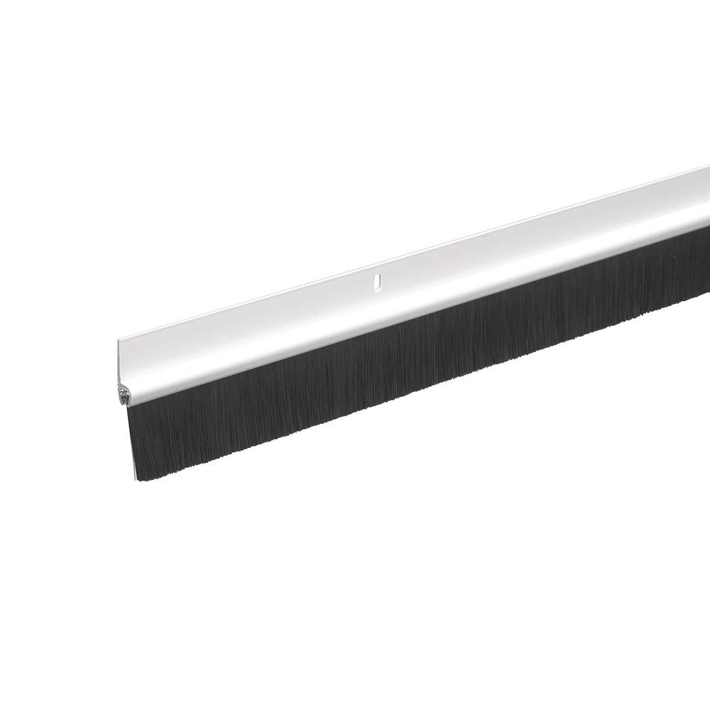 Frost King 1 3 4 In X 36 In White Plastic And Brush Door Sweep C35ph The Home Depot