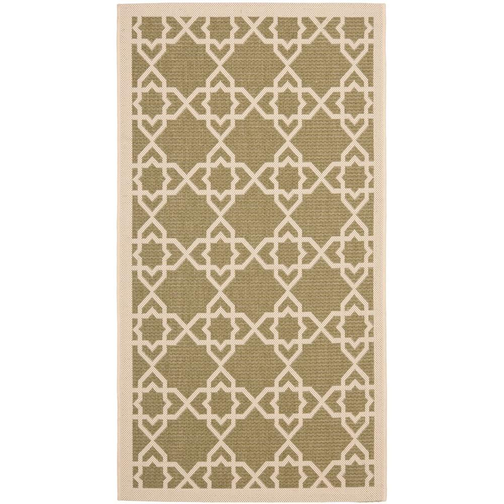 Courtyard Green/Beige 2 ft. x 3 ft. 7 in. Indoor/Outdoor Area