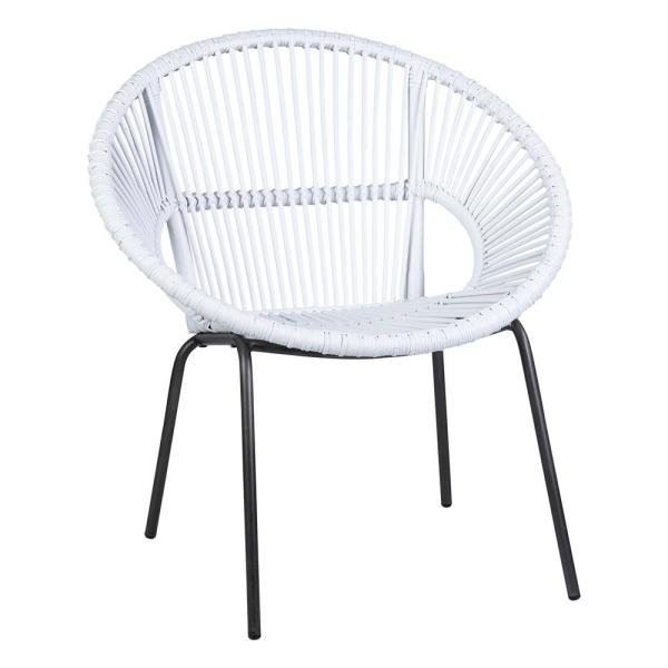 Louanne White Rattan Occasional Chair