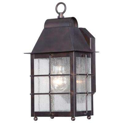 Willow Point 1-Light Chelesa Bronze Outdoor Wall Mount Lantern