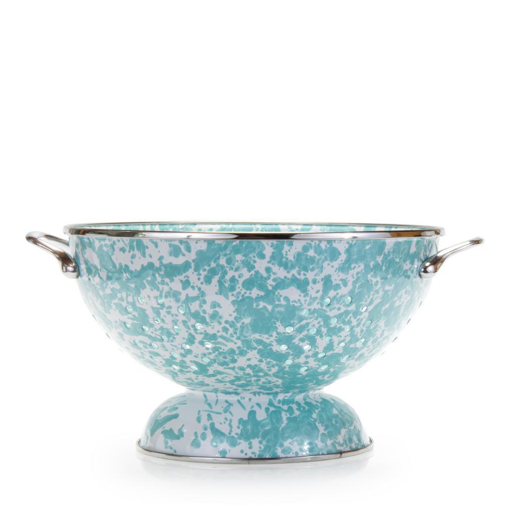 Sea Glass 2 qt. Enamelware Colander