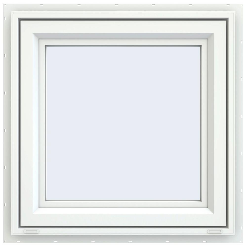 23.5 in. x 23.5 in. V-4500 Series Left-Hand Casement Vinyl Window - White
