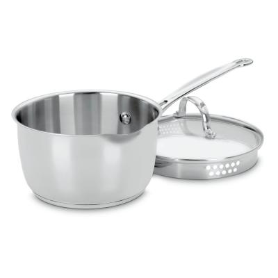 Chef's Classic 2 qt. Stainless Steel Sauce Pan with Glass Lid