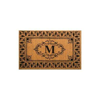 Welcome 30 in. x 48 in. Indoor/Outdoor Monogrammed Letter M Door Mat