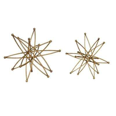 5.75 in. Constanza Gold Sculptures (Set of 2)