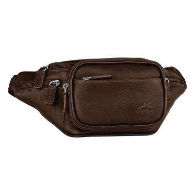 Classic 12 in. Brown Waist Bag