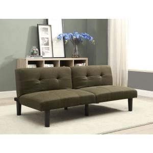 +4. ACME Furniture Astra Dark Olive Linen Adjustable Sofa