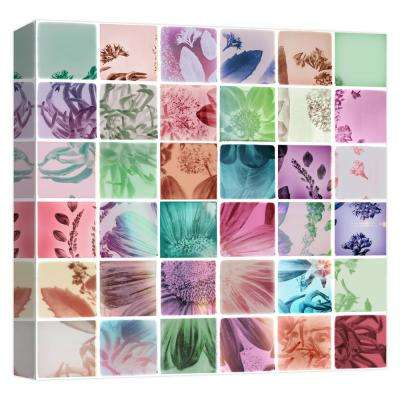 15 in. x 15 in. ''Analog Flowers'' Printed Canvas Wall Art
