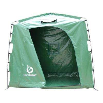 74 in. W x 32 in. D IV Vinyl Tarpaulin Outdoor Storage Shed Tent