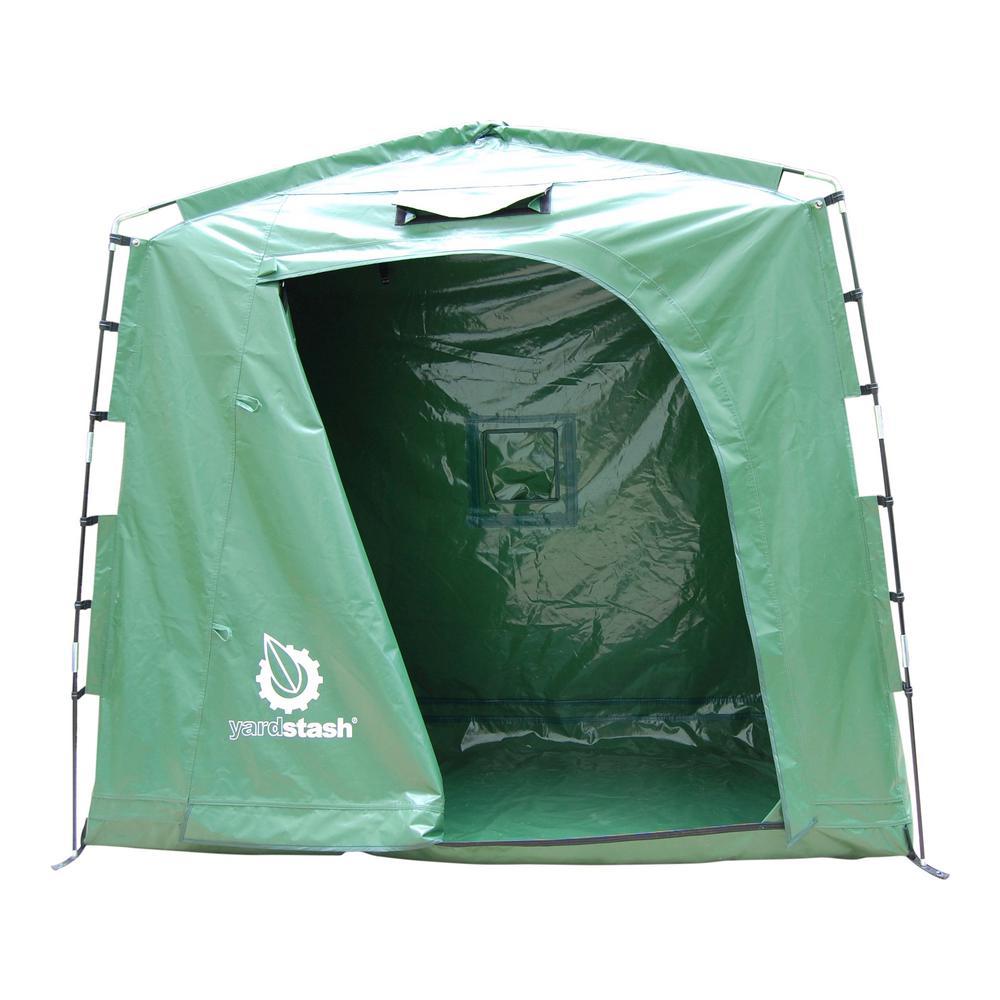 74 in. W x 32 in. D IV Vinyl Tarpaulin Outdoor Storage Shed Tent