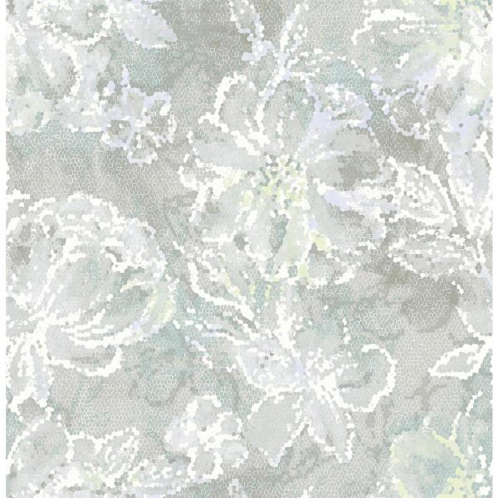 A-Street 56.4 sq. ft. Allure Seafoam Floral Wallpaper 2793-24708