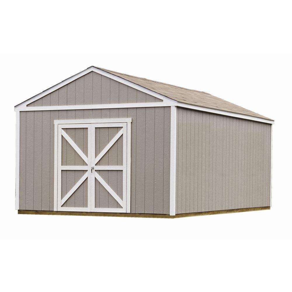 Handy Home Products Columbia 12 ft. x 20 ft. Wood Storage Building Kit with Floor