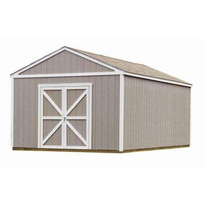 Columbia 12 ft. x 20 ft. Wood Storage Building Kit with Floor