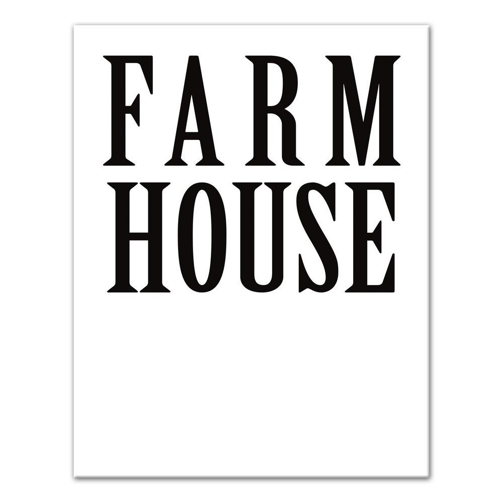 11 in. x 14 in. ''Farm House'' Printed Canvas Wall Art