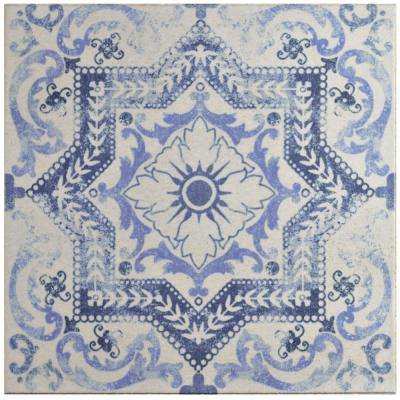 Klinker Alcazar Petunia 12-3/4 in. x 12-3/4 in. Ceramic Floor and Wall Quarry Tile