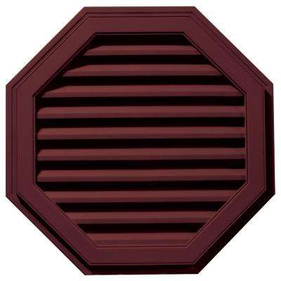 32 in. Octagon Gable Vent in Wineberry